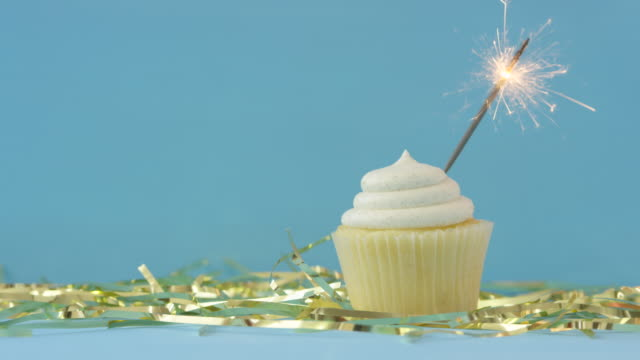 happy new year - cupcake stock videos & royalty-free footage