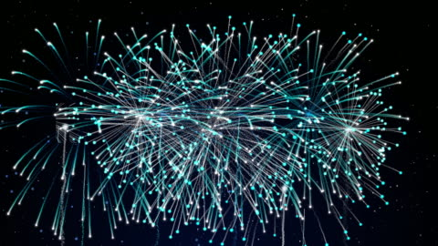 happy new year with colorful of firework for happiness celebration - 4k resolution stock videos & royalty-free footage