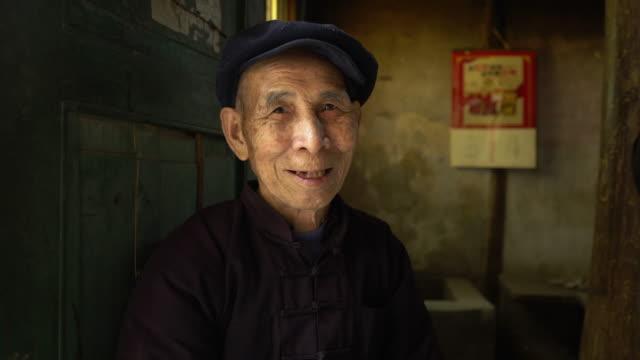Gelukkig oude Chinese man