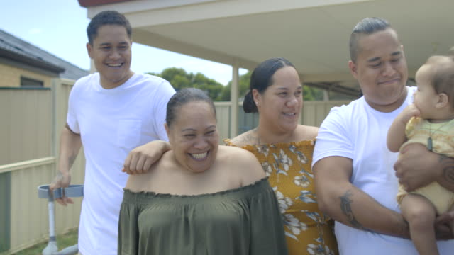 happy pacific islander family - minority groups stock videos & royalty-free footage