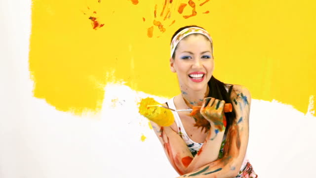 Happy painter