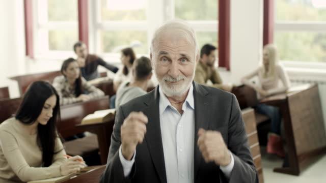 happy professor - instructor stock videos & royalty-free footage