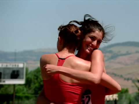 happy relay racers - artbeats stock videos & royalty-free footage