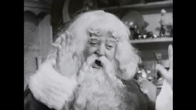 1939 happy santa watches jack in the box watch tumbling clown - toy stock videos & royalty-free footage