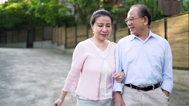happy senior couple - taipei stock videos & royalty-free footage