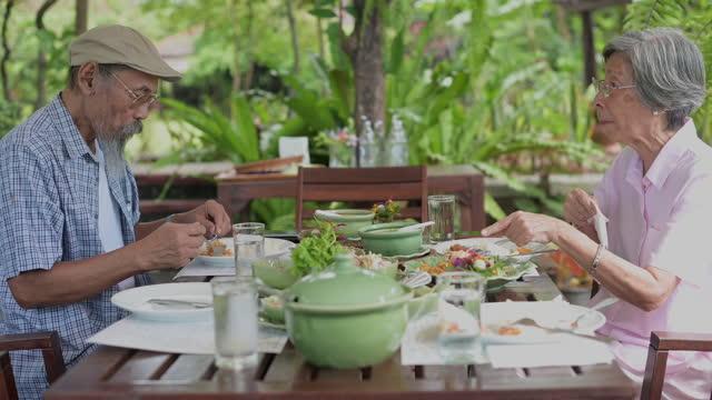 happy senior couple - thai ethnicity stock videos & royalty-free footage