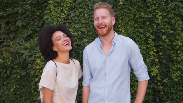 happy smiling young couple - mixed race person stock videos & royalty-free footage