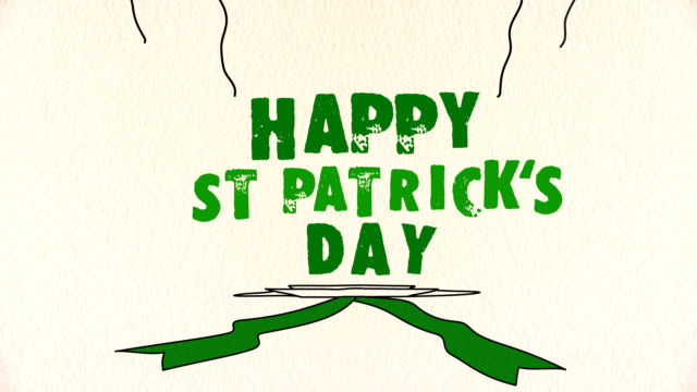 happy st patrick's day greeting - st. patrick's day stock videos & royalty-free footage