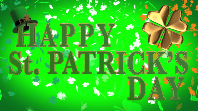 happy st. patrick's day seamless 4k loop - st. patrick's day stock videos & royalty-free footage