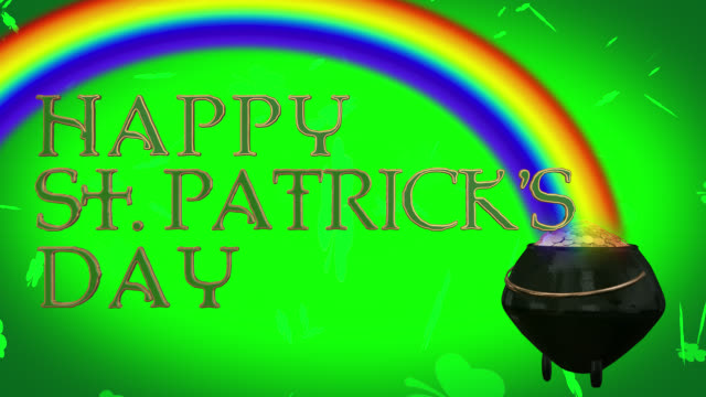 Happy St. Patrick's Day seamless 4K loop
