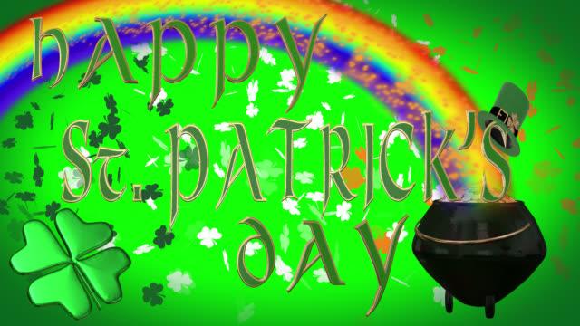 Happy St. Patrick's Day seamless 4K loop