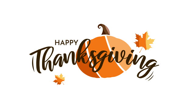 happy thanksgiving card with pumpkin. animation - thanksgiving stock videos & royalty-free footage