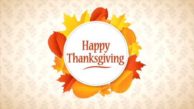 Happy Thanksgiving Day Typographic Animated Design template.