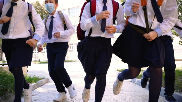 happy that school is finally back - primary school child stock videos & royalty-free footage