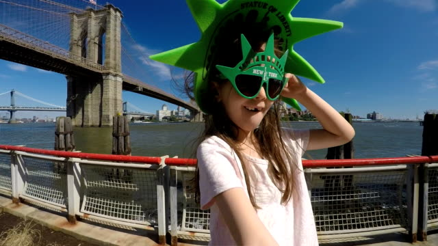 Happy tourist in NYC. Teens Viewpoint on the World