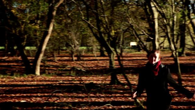 happy tree hugger... - hugging tree stock videos and b-roll footage