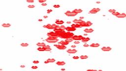 Happy Valentine's Day banner. Motion design. Digital greeting e-card.