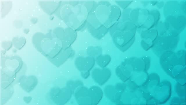 stockvideo's en b-roll-footage met gelukkige dag van de valentijnskaart - de animatieachtergrond van het hart - cadeau