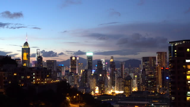 happy valley hong kong city dusk to night city traffic slow timelapse - dusk to night stock videos & royalty-free footage