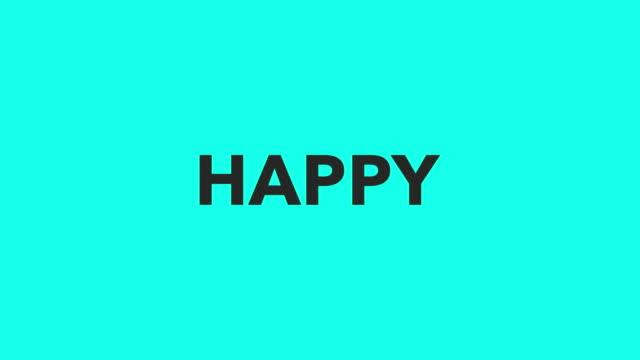 幸せ - ベクトルをアニメーション化します。 - クロスワード点の映像素材/bロール