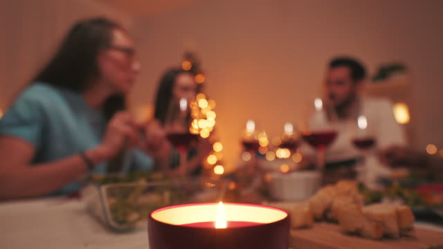 happy winter holidays. - meal stock videos & royalty-free footage