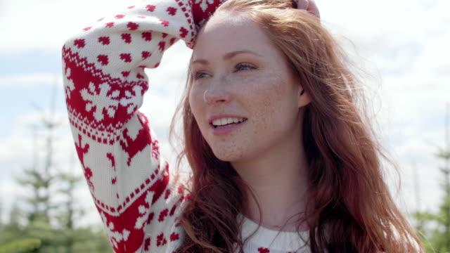 happy woman/ debica/ poland - freckle stock videos & royalty-free footage