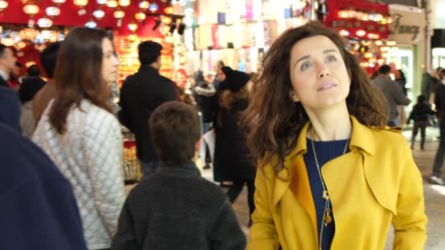 Happy woman in the grand bazaar