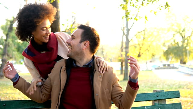 happy young couple smiling at each other - valentine's day stock videos & royalty-free footage