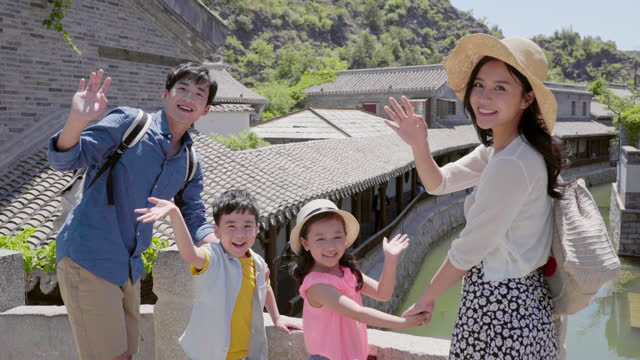 happy young family enjoying vacation,4k - 両親点の映像素材/bロール