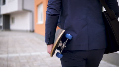 happy young stylish businessman going to work - businesswear stock videos & royalty-free footage