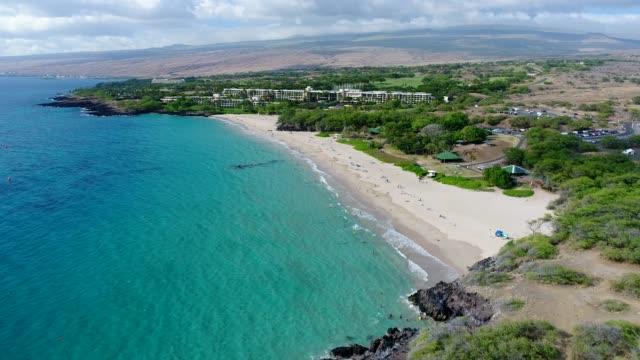 vídeos y material grabado en eventos de stock de playa de hapuna - isla grande de hawái islas de hawái