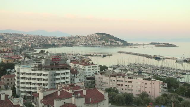 harbor and city, kusadasi, turkey - aydın province stock videos and b-roll footage