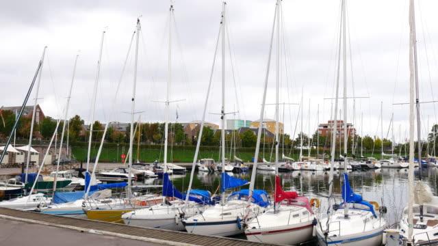 harbor and yachts in copenhagen, denmark - oresund region stock videos & royalty-free footage