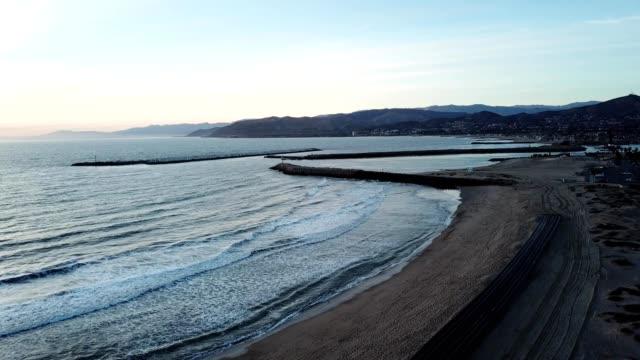 harbor cove beach in ventura california - ventura stock videos and b-roll footage