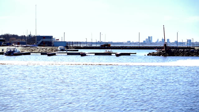 harbor district in a city - floating moored platform stock videos & royalty-free footage