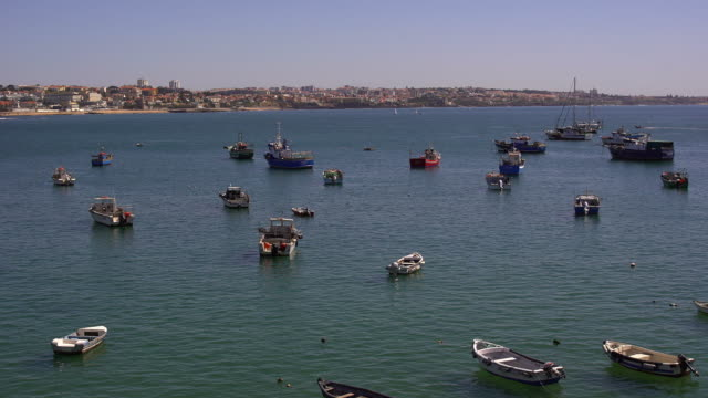 ポルトガル、カスカイス湾 - カスカイス点の映像素材/bロール