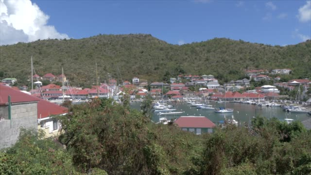 vídeos y material grabado en eventos de stock de harbour and rooftops, gustavia, st. barthelemy (st. barts) (st. barth), west indies, caribbean, central america - territorios franceses de ultramar
