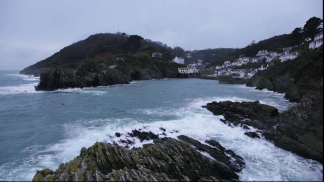 harbour at dusk - cornwall england stock videos & royalty-free footage