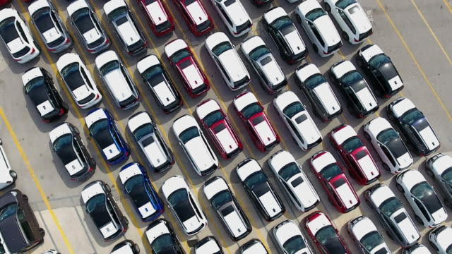 harbour car park aerial view - excess stock videos & royalty-free footage