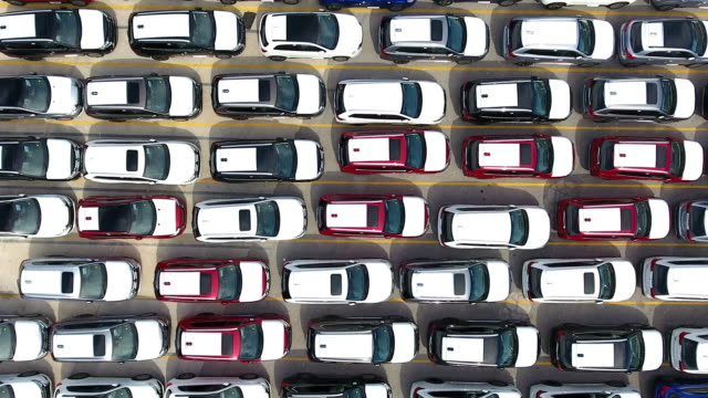 harbour car park aerial view - large stock videos & royalty-free footage