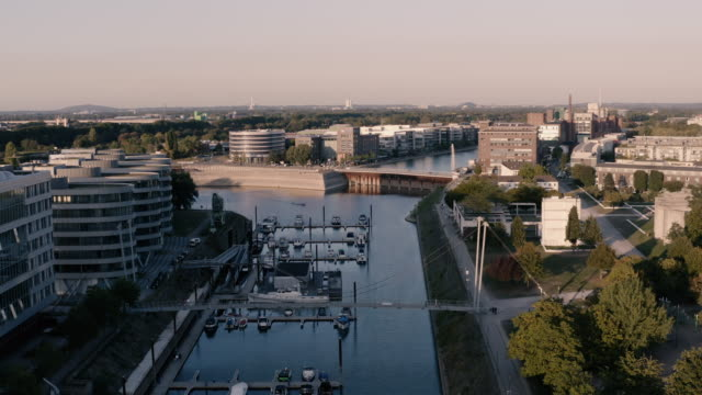 harbour in duisburg, germany - mayor stock videos & royalty-free footage