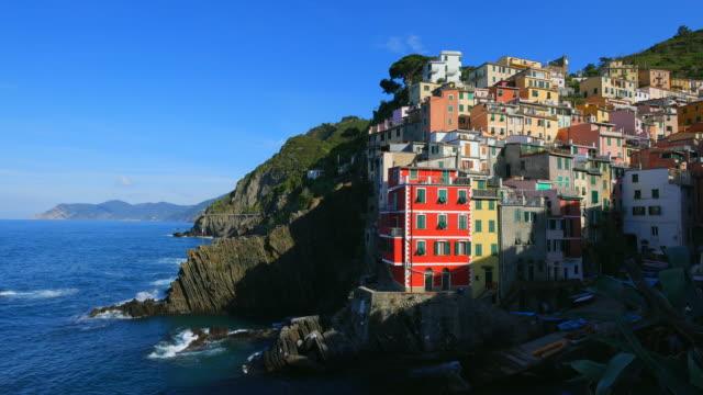 harbour of riomaggiore, italian riviera, cinque terre, liguria - cinque terre stock videos and b-roll footage