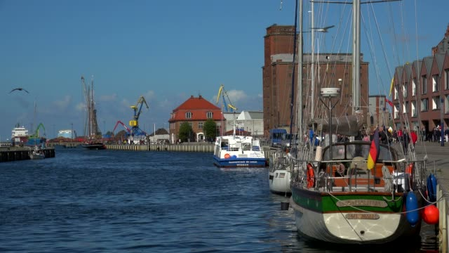 Harbour of Wismar, Mecklenburg-Western Pomerania, Germany