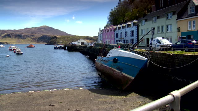 harbour on isle of skye - scenics stock videos & royalty-free footage