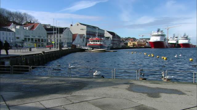 harbour, stavanger, norway - stavanger stock videos & royalty-free footage