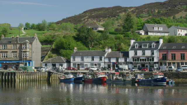 Harbour with fishing boats / Tarbert, United Kingdom