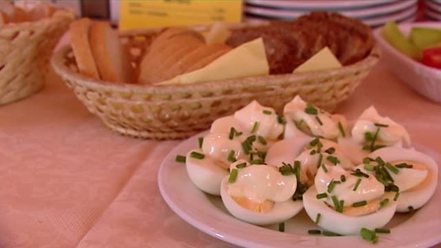 hard boiled egg with mayonnaise - hard boiled egg stock videos & royalty-free footage