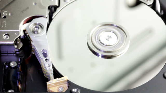 hard disk drive inside closeup - disk stock videos & royalty-free footage
