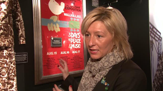 hard rock cafe's director of philanthropy/woodstock memorabilia expert annie balliro on music memorabilia and the roll it plays in history at the... - hard rock cafe stock videos & royalty-free footage
