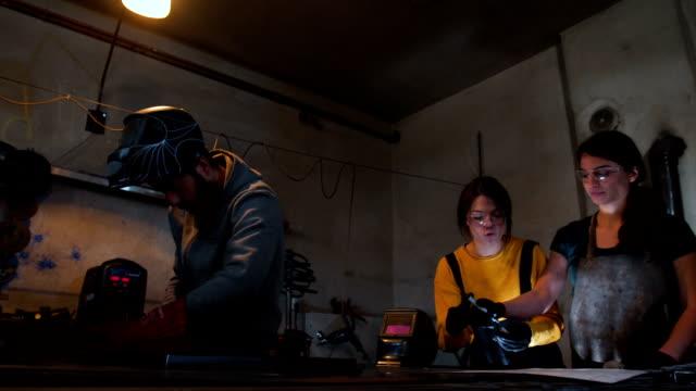 hard work in workshop - welding torch stock videos & royalty-free footage